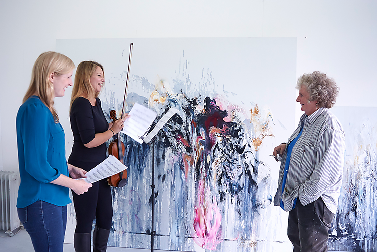 Maggi Hambling, Harriet Mackenzie and Deborah Pritchard