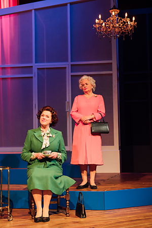 Caroline Harker and Susan Penhaligon in Handbagged. Photo credit Helen Murray.