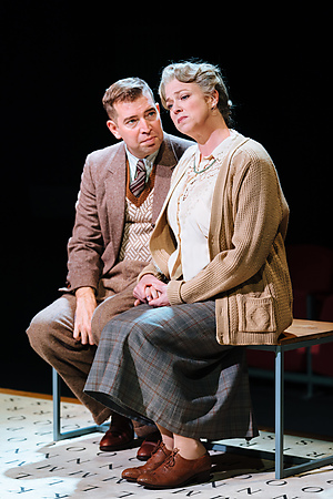 Edward Bennett and Caroline Harker in Breaking the Code. Credit Helen Murray
