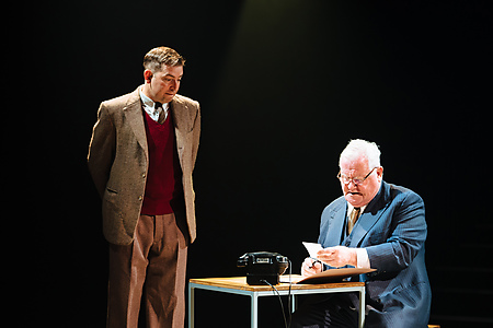 Edward Bennett and Ian Redford in Breaking the Code. Credit Helen Murray
