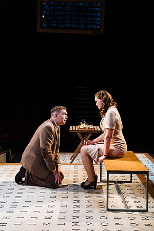 Edward Bennett and Louise Calf in Breaking the Code. Credit Helen Murray