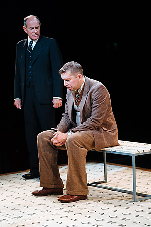 Fraser Wilson and Edward Bennett in Breaking the Code. Credit Helen Murray
