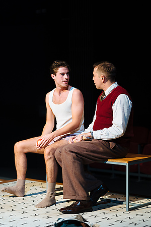 Joey Phillips and Edward Bennett in Breaking the Code. Credit Helen Murray