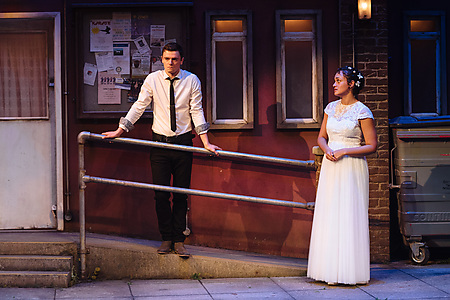 Emmet Byrne and Lily Nichol in Blood Wedding. Credit Helen Murray.
