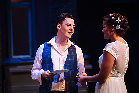 Reevce Evans and Lily Nichol in Blood Wedding. Credit Helen Murray.