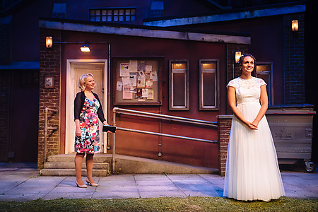 Teresa Banham and Lily Nichol in Blood Wedding. Credit Helen Murray.