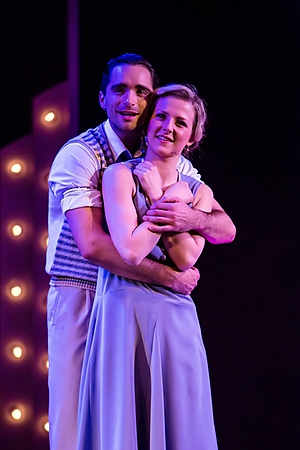 Matthew Croke and Eleanor Brown in SINGIN' IN THE RAIN. Credit Richard Davenport