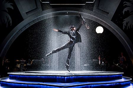 Matthew Croke in SINGIN' IN THE RAIN. Credit Richard Davenport