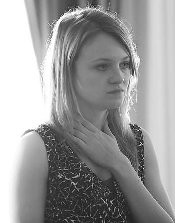 Rhiannon Handy in rehearsals Photo credit Leigh Lothian