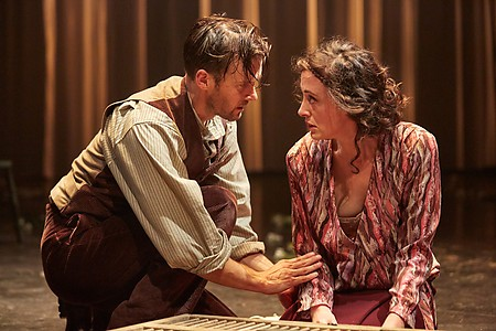 Jonah Russell and Hedydd Dylan in Lady Chatterley's Lover. Photo by Mark Douet