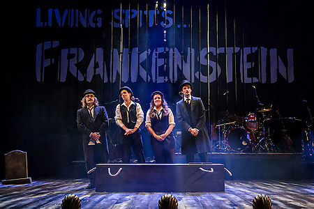 Tom Knott, Rebekah Hughes, Lauryn Redding and Mike Slader in Frankenstein at Salisbury Playhouse (Credit The Other Richard)