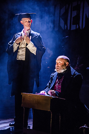 Stu Mcloughlin and Howard Coggins in Frankenstein at Salisbury Playhouse. Credit The Other Richard