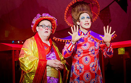 Fred Broom and Richard Ede in ALADDIN. Photo Credit Robert Workman